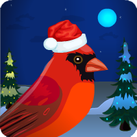 CHRISTMAS RED CARDINAL ESCAPE