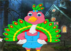 G4K Cartoon Little Peacock Escape