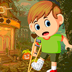 G4K Rescue Leg Broken Boy Game_p