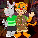 G4k Tiger And Rhinoceros Rescue Game