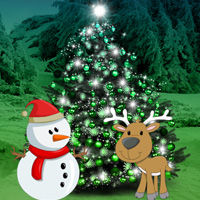Christmas Forest Tree Decor Escape
