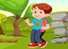 Cute School Boy Escape