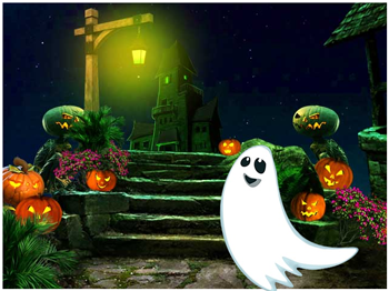green-halloween-ghost-escape