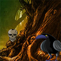 halloween-crow-forest-escape