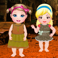 Twin Girls War Place Rescue