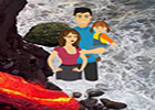 Wow Rescue A Family From Volcano