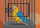 Yellow parrot escape